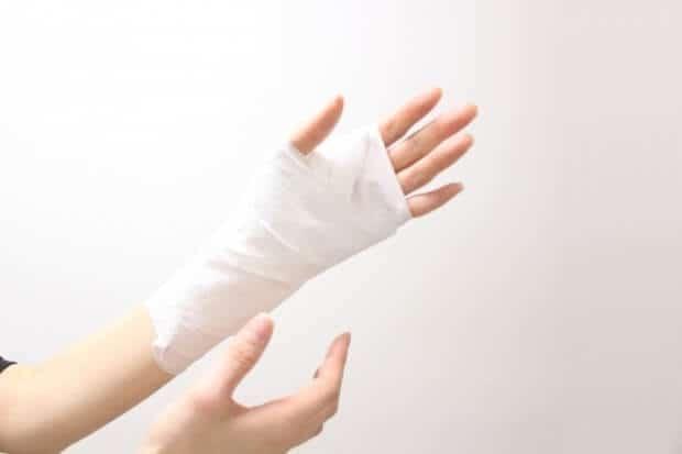 怪我をした女性