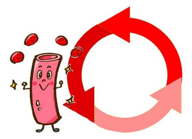 血液循環がよくなるイメージ